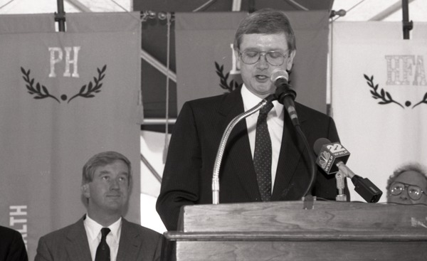 Ceremonial groundbreaking for the Conte Center: unidentified speaker, July 30, 1991