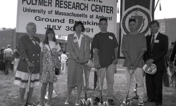 Ceremonial groundbreaking: Conte family group, July 30, 1991